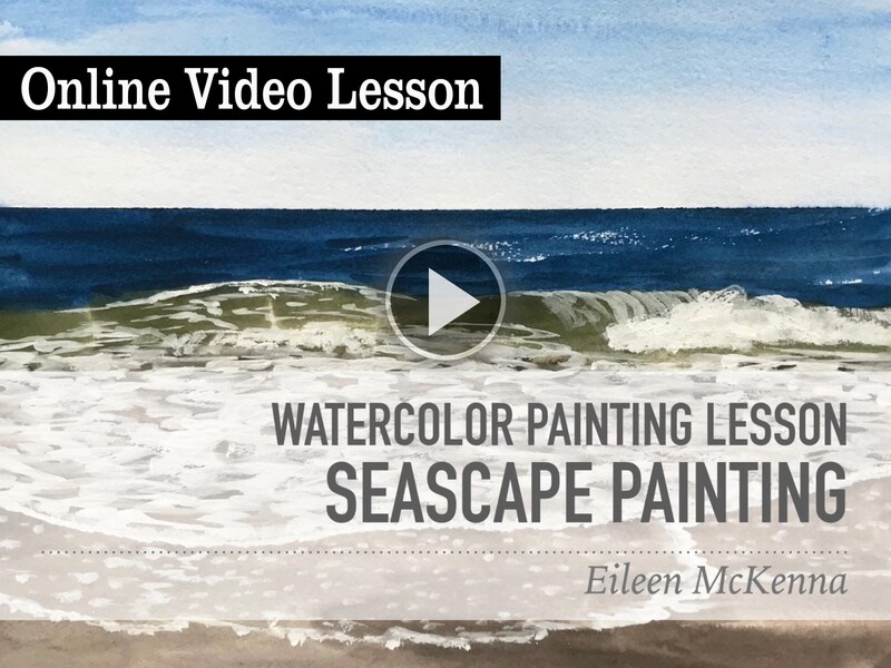 Watercolor Seascape Online Painting Lesson