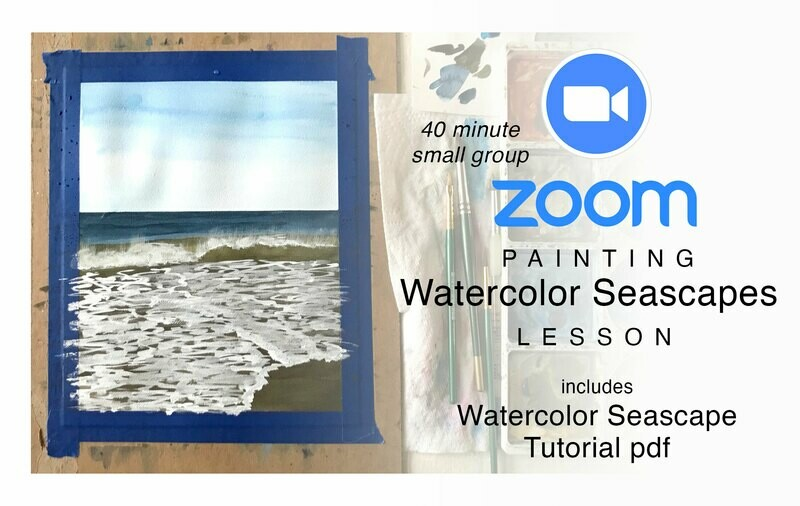 ZOOM Watercolor Seascape Painting Lesson