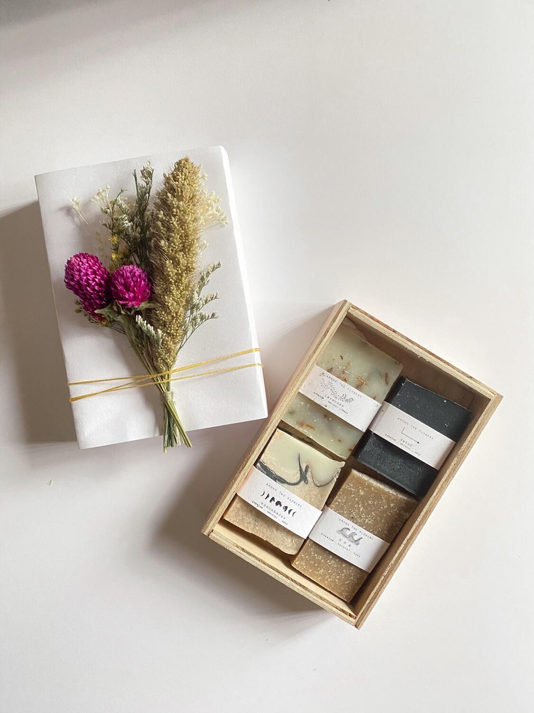 soap sampler gift set - among the flowers