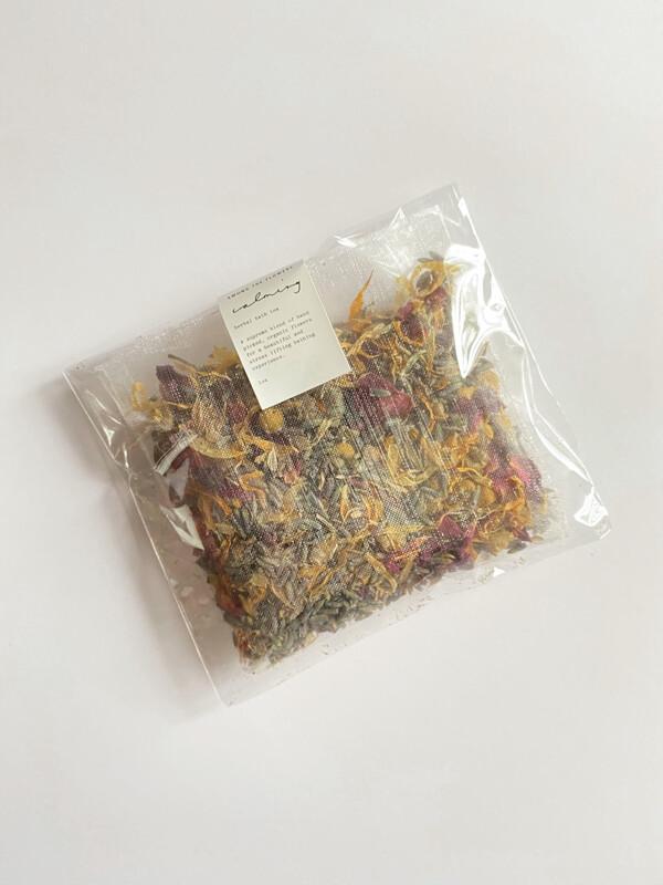calming bath tea - among the flowers