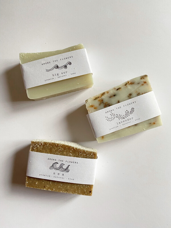 cold process soap - among the wildflowers