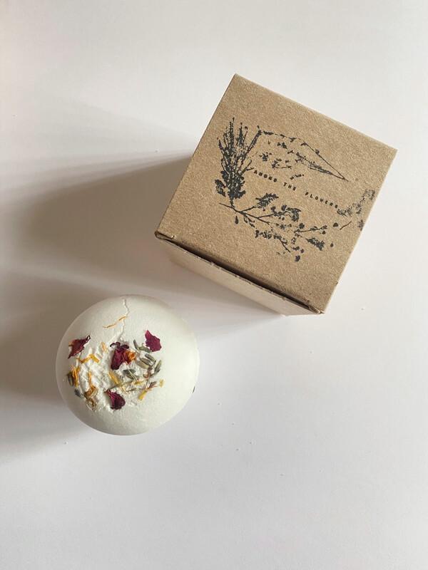 lavender bath bomb - among the flowers