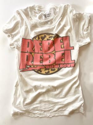 rebel rebel david bowie tee - recycled karma