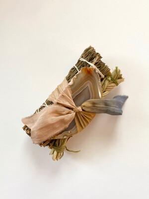 rosemary + sweetgrass smudge stick