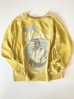 muddy waters chicago blues oversized sweatshirt