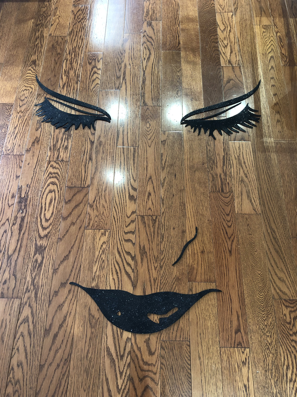 3D wall decor-eyelash beauty salon 3D decoration-beautiful Face
