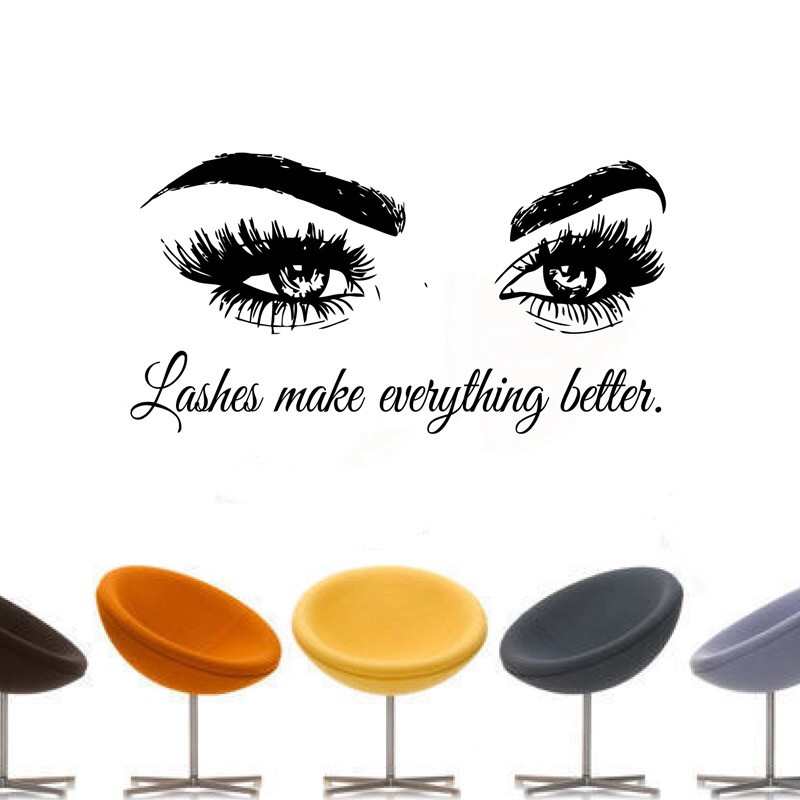 3D wall decor-eyelash beauty salon 3D decoration-beautiful Face