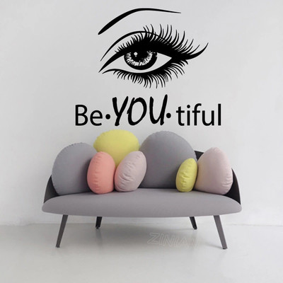 3D wall decor-eyelash beauty salon 3D decoration-B u Tifull