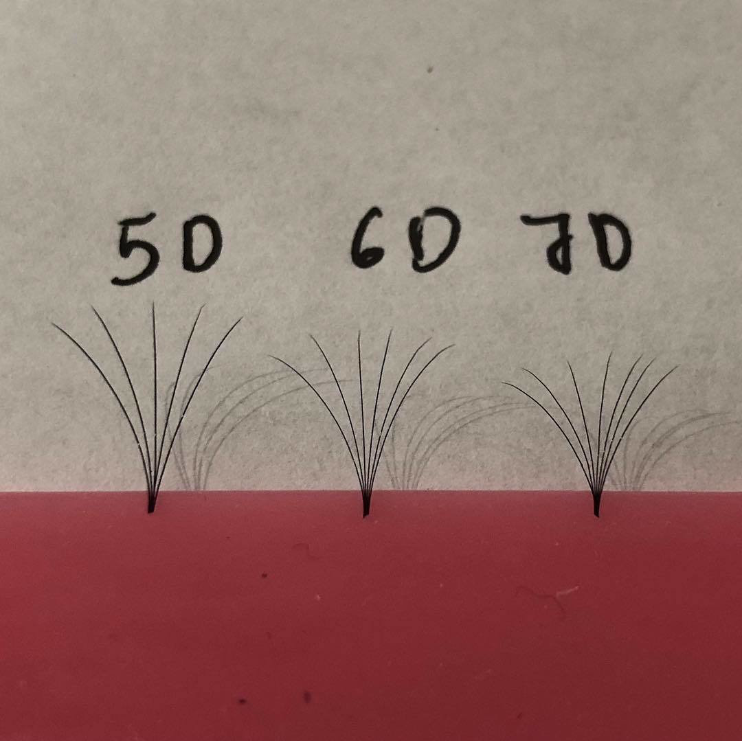 pre hand fans ( A Box of 500 Fans) 5D U ( DD ) curl 12mm 0.07