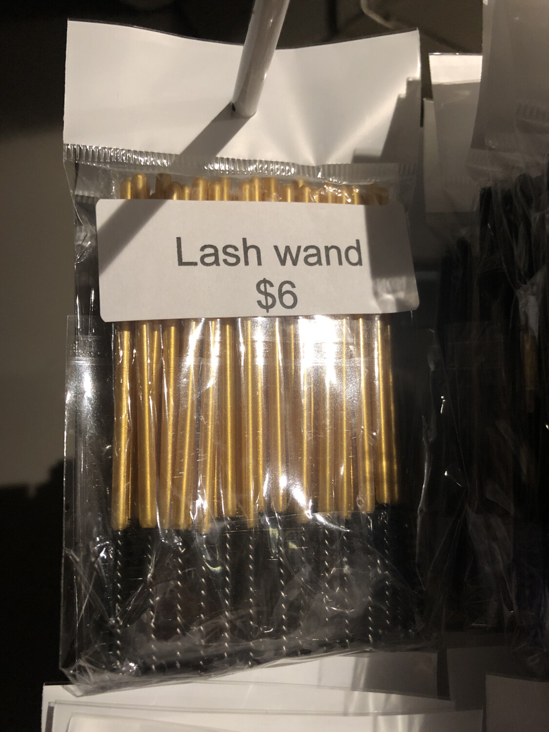 50pcs Disposable Mascara Wands Makeup Brushes Eyelash Eye Lash Brush Make Up Applicators Kit (gold Black )