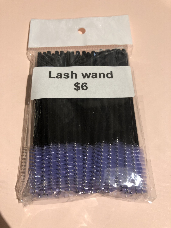 50pcs Disposable Mascara Wands Makeup Brushes Eyelash Eye Lash Brush Make Up Applicators Kit ( Black Purple )