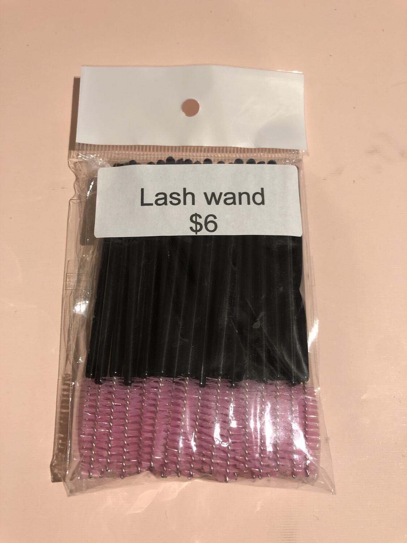 50pcs Disposable Mascara Wands Makeup Brushes Eyelash Eye Lash Brush Make Up Applicators Kit ( Black Pink )