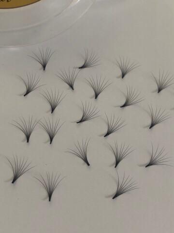 pre hand fans ( A Box of 500 Fans) 8D D curl 14mm 0.03