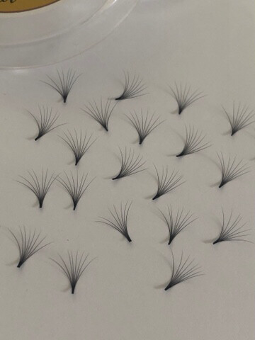 pre hand fans ( A Box of 500 Fans) 8D D curl 19mm 0.05