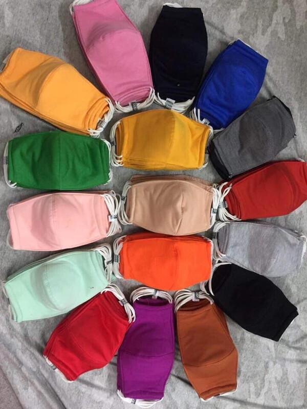Reuse able Cotton Masks 3 Layers
