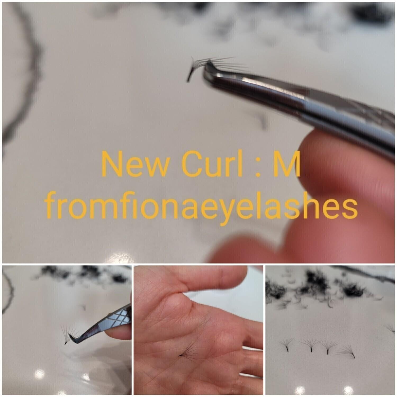 pre hand fans ( A Box of 500 Fans) 5D M curl 15 mm 0.07