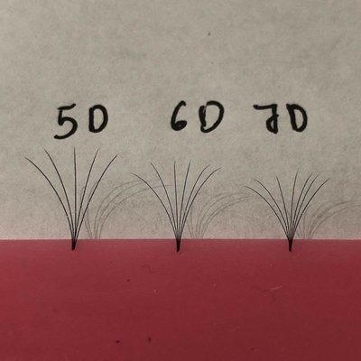 pre hand fans ( A Box of 500 Fans) 5D D curl 9mm 0.07