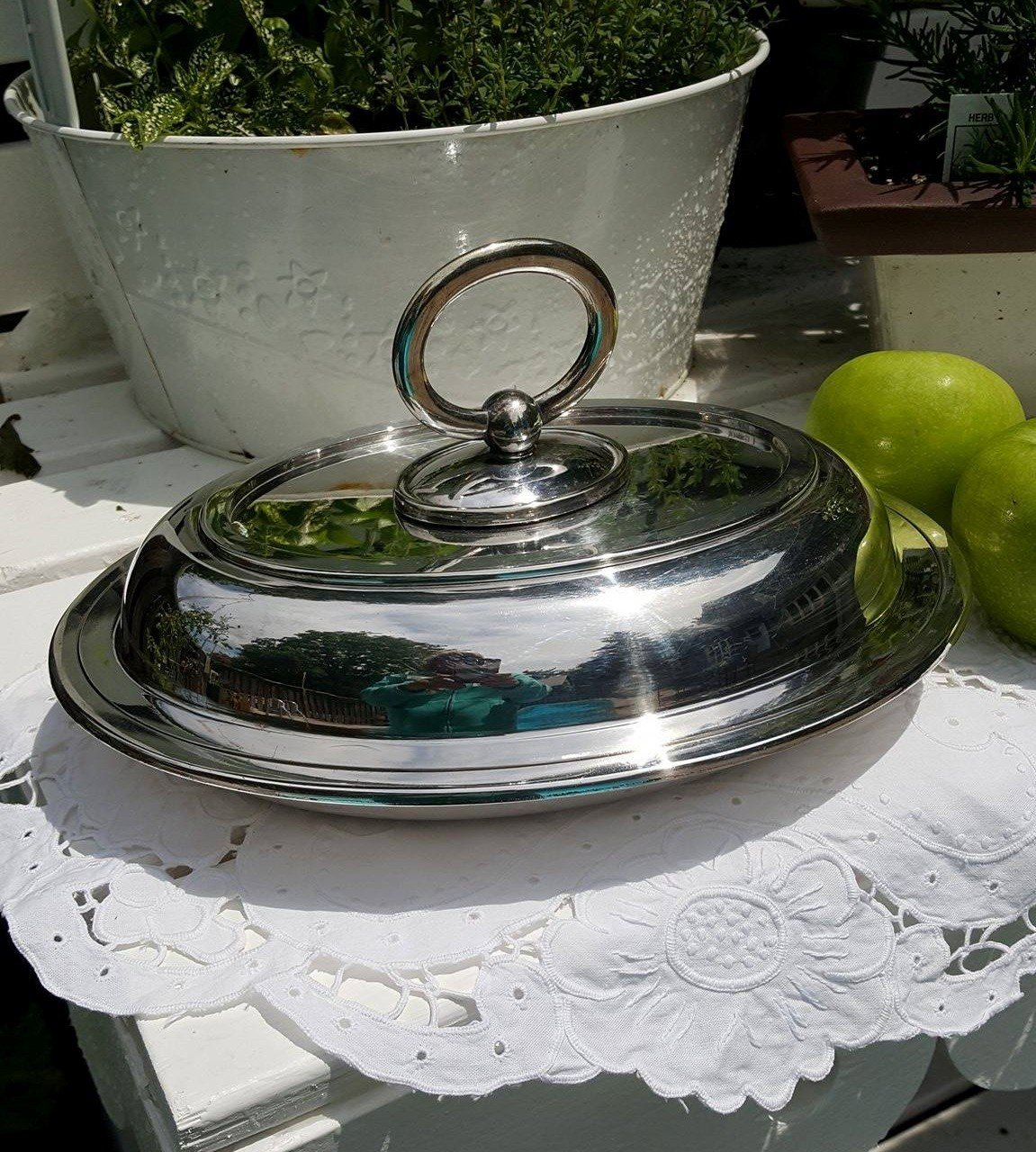 Heirloom Silver Serving Dish with Lid
