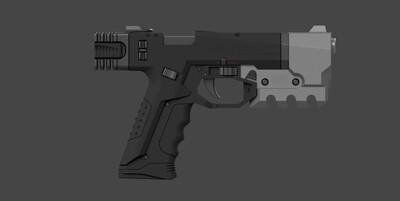 CyberPunk 2077 Militech Pistol Cosplay Prop 9mm