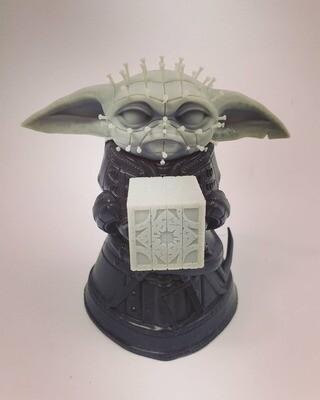 Star Wars Baby Yoda / Grogu Hellraiser Cenobite Pinhead Figure