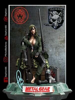 Metal Gear Sniper Wolf Figure