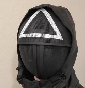 Squid Game Soldier / Minion Triangle Square Circle Mesh Mask