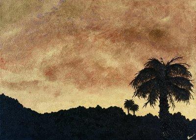 """""""Desert Gold Sunset"""" -  Signed 14"""" x 11"""" Print"""