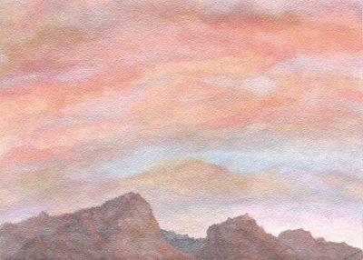 """""""Desert Sky"""" -  Signed 14"""" x 11"""" Print"""