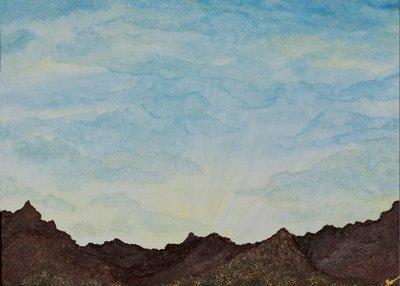 """""""Desert Rays"""" -  Signed 14"""" x 11"""" Print"""