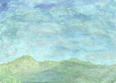 """Spring Sky"" -  Signed 14"" x 11"" Print"