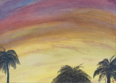 """""""Shimmering Palms"""" -  Signed 14"""" x 11"""" Print"""