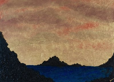 """Ocean Gold Sunset"" -  Signed 14"" x 11"" Print"