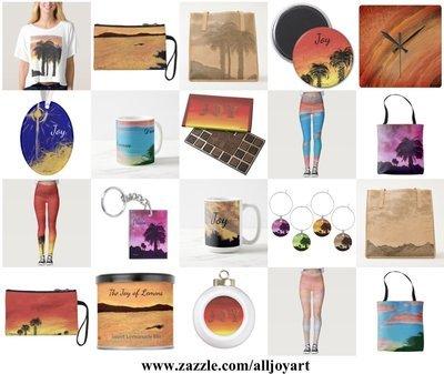 Gifts featuring original artwork at: www.zazzle.com/alljoyart