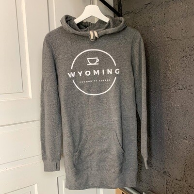 Women's Tunic Hoodie - Heather Grey
