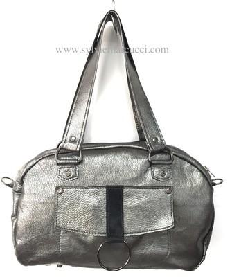 Lara sac cuir couleur  gris argent
