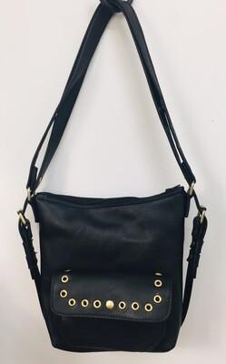 Sabi cuir noir froissé français, sac à dos et ou porté épaule, cuir souple pièce unique
