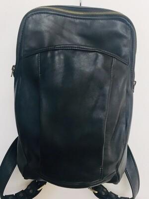 Pom sac à dos unisexe cuir noir bretelles réglables