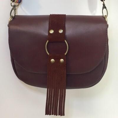 Lybloo cuir Français de couleur marron porté épaule pièce unique