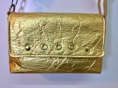 Silver Gold sac Pinatex sac vegan sangle beige blanc fait à Toulouse France
