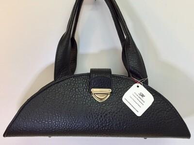 Marina bi cuir Français noir, pièce unique, porté épaule ou main /Modèle déposé FR1049592 00468