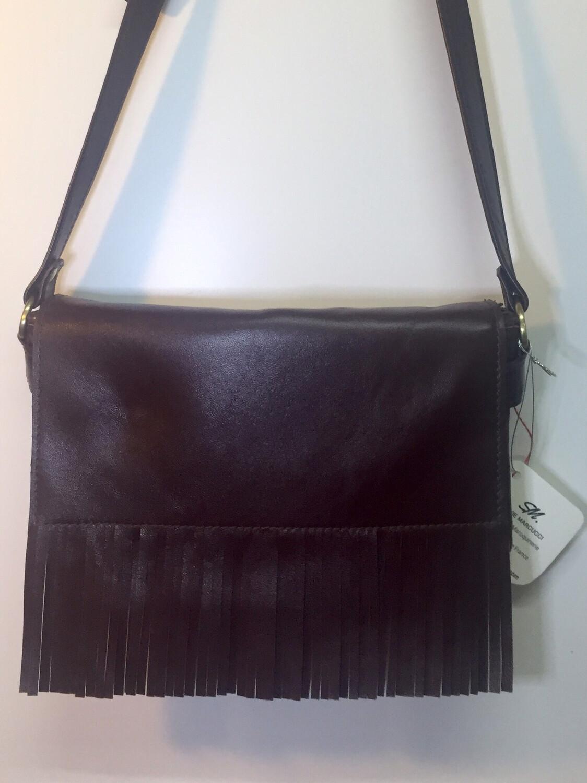 Frangine sac cuir Français fabriqué à Toulouse de couleur bordeaux pièce unique
