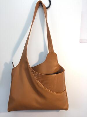 Hobby sac cuir Français porté épaule réglable lanière par boucle fait à Toulouse