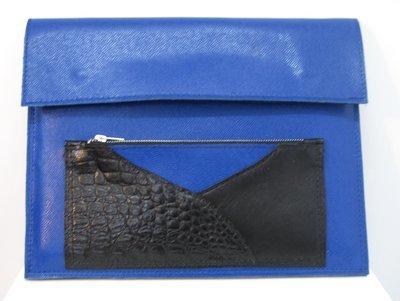 Blueline Housse cuir pour Ordi mac book air 13'', pochette ordi, Modèle unique#protection ordi portable