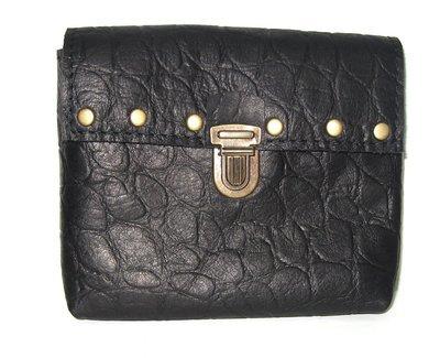 Bahamas pochette ceinture en cuir  Francais noir idéal voyage #protection de vos papiers fait à Toulouse