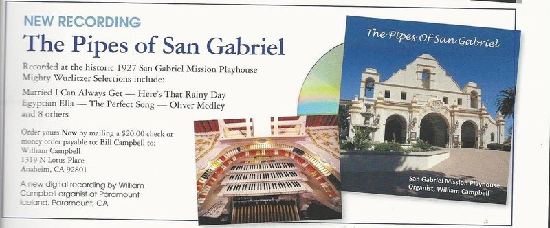 The Pipes of San Gabriel CD