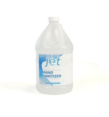 Jet Hand sanitizer Liquid 80% Alcohol Antiseptic 128 oz (1 Gallon )