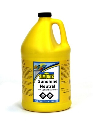 Simoniz SUNSHINE NEUTRAL CLEANER 1 Gallon