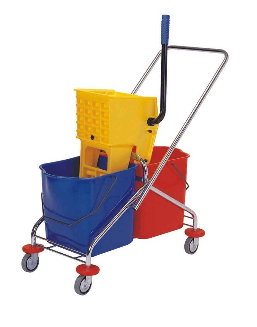 Industrial Wringer with Tow Buckets Metal Frame AF08071
