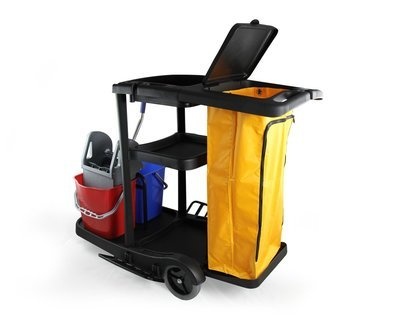 Industrial Housekeeping Janitorial Service cart with Vinyl Bag AF08180C