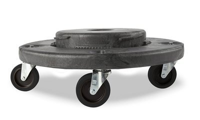 Trash Can Dolly Heavy-duty Plastic 4 Casters , Gray